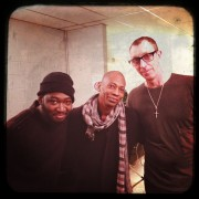 Backstage after the D'angelo Black Messiah Tour at Forest National (Belgium) with guitarist Isaiah Sharkey & bassist Pino Palladino.