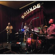 Performing trio at Sounds Jazz club (Belgium) with Jacques Schwarz-Bart (saxophone) & E.J. Strickland (drums).