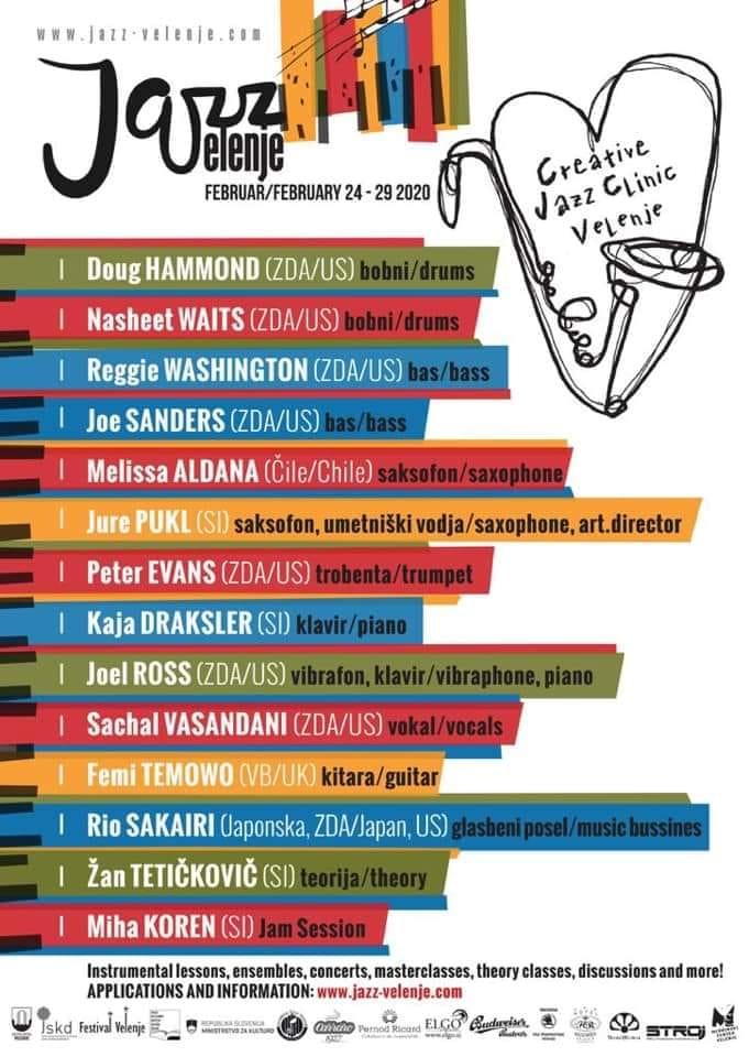 Kreativna Jazz Klinika Velenje/Creative Jazz Clinic Velenje 2020